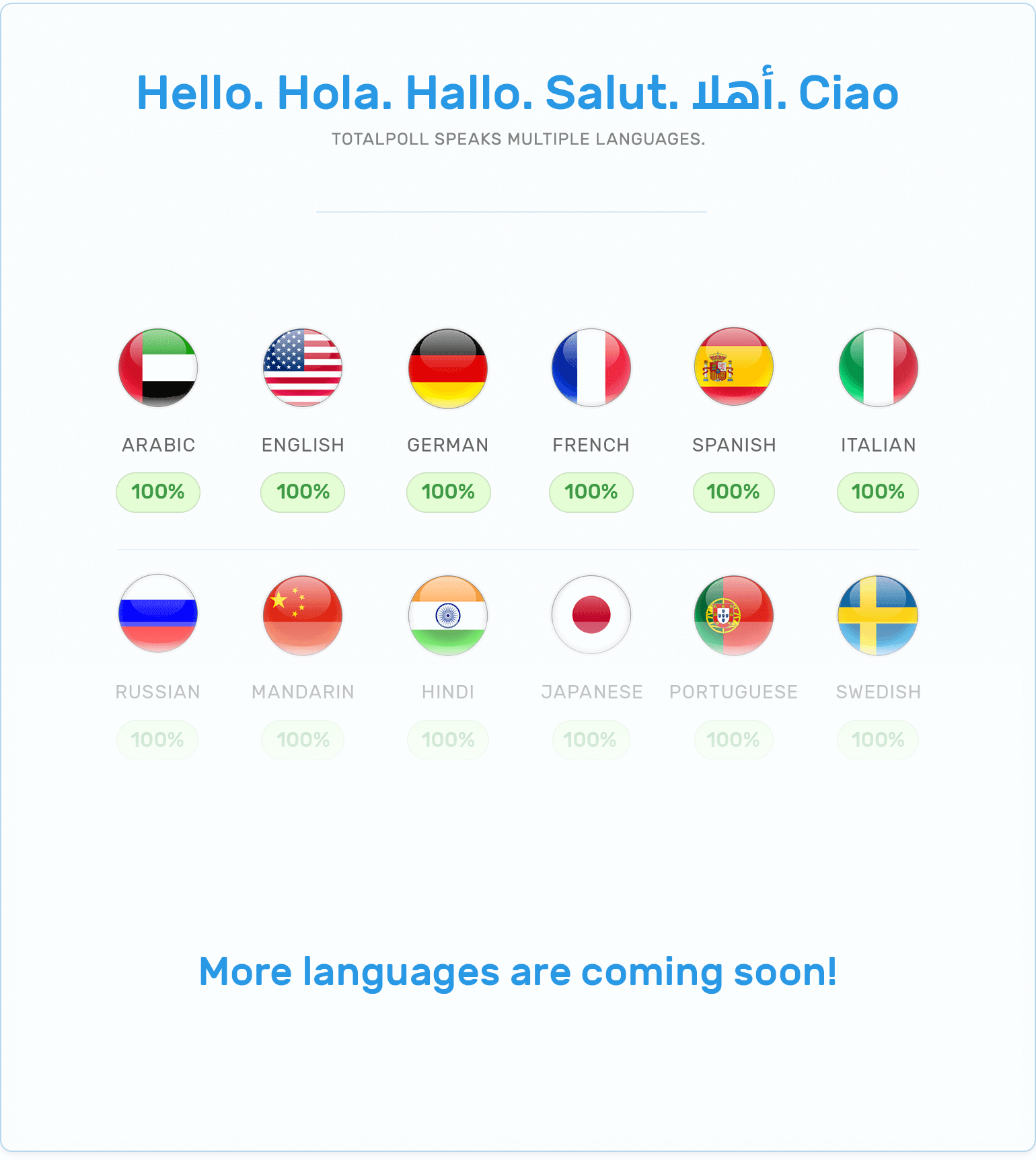 TotalPoll is available in many languages.