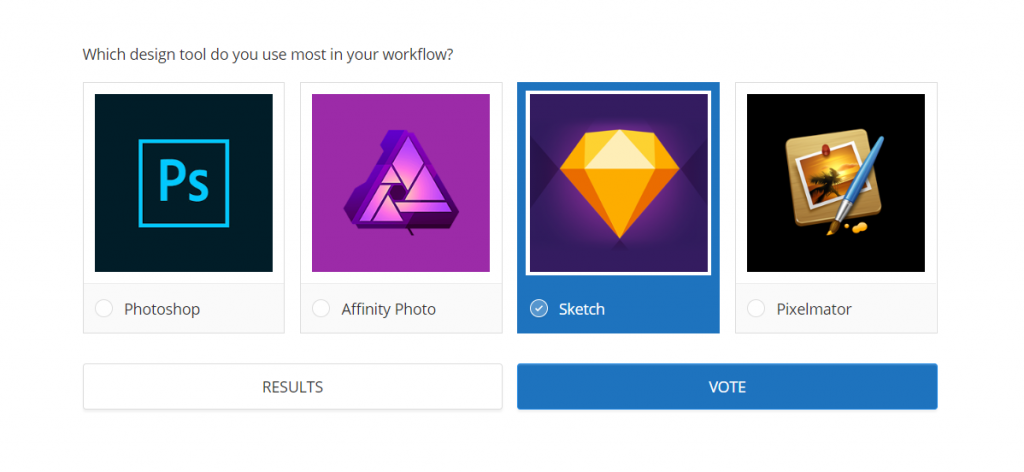 A poll of design tools: Photoshop, Affinity, Sketch and Pixelmator